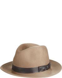 Sombrero de lana marrón claro