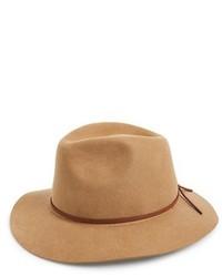 Sombrero de lana marrón claro de Brixton
