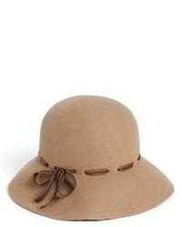 Sombrero de lana marrón claro de Eric Javits