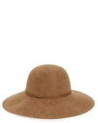 Sombrero de Lana Marrón Claro de Hinge