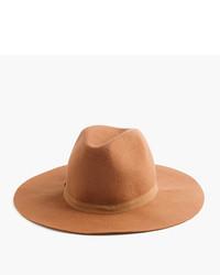 Sombrero de lana marrón claro de J.Crew