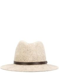 Sombrero de lana marrón claro de Rag & Bone