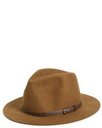 Sombrero de lana marrón claro de Sole Society
