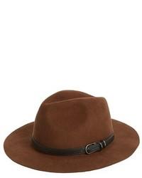 Sombrero de lana marrón de Sole Society