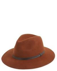 Sombrero de lana marrón de Topman