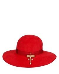 Sombrero de Lana Rojo de Delfina Delettrez