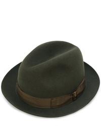 Sombrero de lana verde oliva de Borsalino