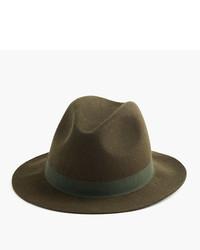 Sombrero de lana verde oliva de J.Crew