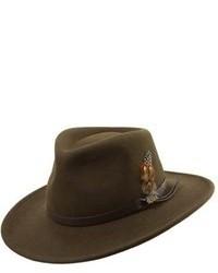 Sombrero de lana verde oliva de Scala