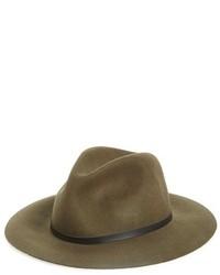 Sombrero de Lana Verde Oliva de Topshop