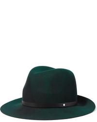 Sombrero de lana verde oscuro de Rag & Bone