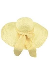 Sombrero de paja amarillo