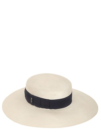 Sombrero de Paja Blanco y Negro de Borsalino  dónde comprar y cómo ... 21f1aae4c2c