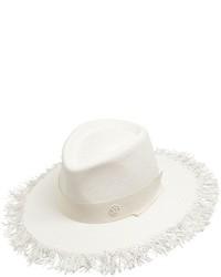 Sombrero de paja blanco de Maison Michel