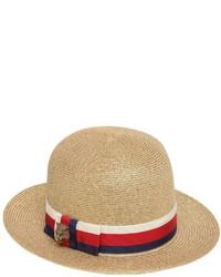 Sombrero de paja dorado de Gucci