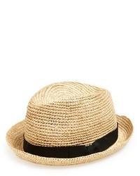 Sombrero de paja en beige de John Varvatos