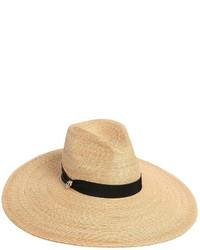 Sombrero de paja marrón claro de Dsquared2