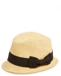 Sombrero de paja marrón claro de Halogen