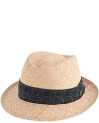 Sombrero de paja marrón claro de J.Crew
