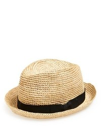 Sombrero de Paja Marrón Claro de John Varvatos