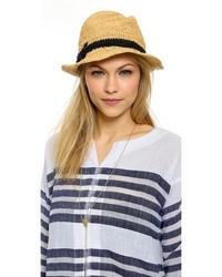 Sombrero de paja marrón claro de Kate Spade