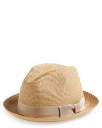 Sombrero de paja marrón claro de rag & bone