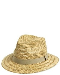 Sombrero de paja marrón claro de Topman