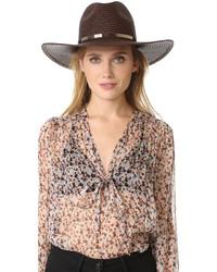 Sombrero de paja marrón de Janessa Leone