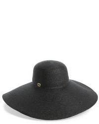 Sombrero de Paja Negro de Eric Javits