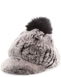 Sombrero de piel gris de Jocelyn