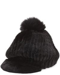 Sombrero de piel negro de Jocelyn