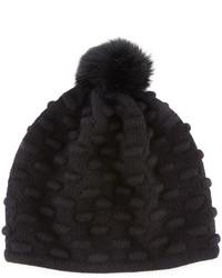 Sombrero de piel negro de Portolano