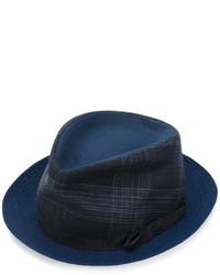 Sombrero de tartán azul marino de Etro