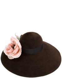 Sombrero en marrón oscuro de Gucci