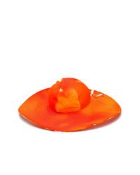 Sombrero naranja de MSGM