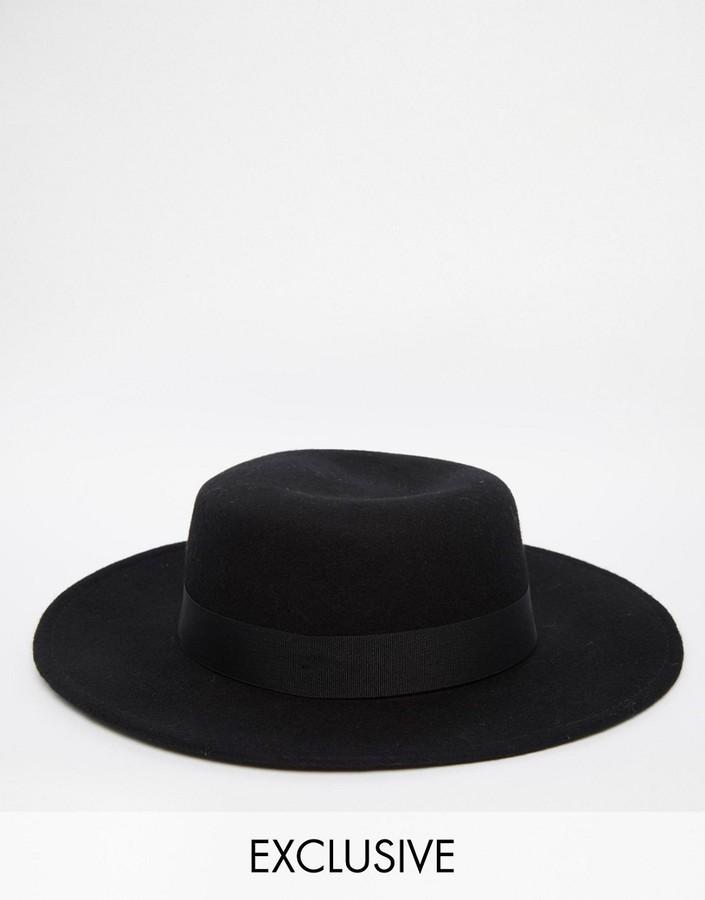 666ed28c42ebf Sombrero Negro de Reclaimed Vintage  dónde comprar y cómo combinar