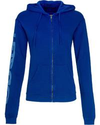 Sudadera con capucha azul