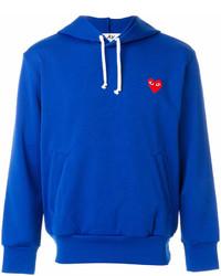 Sudadera con capucha azul de Comme des Garcons