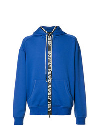Sudadera con capucha azul de Mostly Heard Rarely Seen