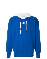 Sudadera con capucha azul de Puma