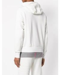 Sudadera con capucha blanca de Thom Browne