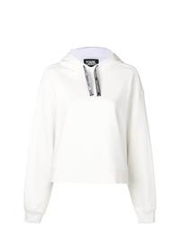 Sudadera con capucha blanca de Karl Lagerfeld