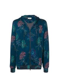 Sudadera con capucha con print de flores azul marino de Etro