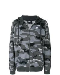 Sudadera con capucha de camuflaje en gris oscuro de Nike