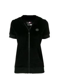 Sudadera con capucha de manga corta negra de Plein Sport