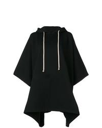 Sudadera con capucha de manga corta negra de Rick Owens DRKSHDW