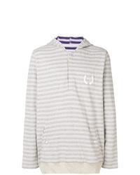 Sudadera con capucha de rayas horizontales gris de Puma