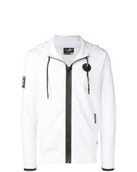 Sudadera con capucha en blanco y negro