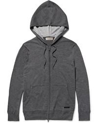 Sudadera con capucha en gris oscuro de Burberry