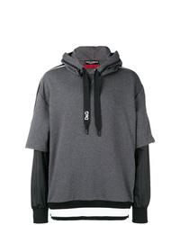 Sudadera con capucha en gris oscuro de Dolce & Gabbana
